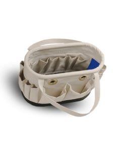 Hard Body Tool Bucket W/Grommets, 15in Length x 7in Wide x 9in High, 14 Pockets Outside, 15 Pockets Inside
